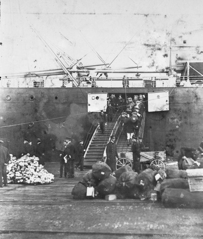 Einschiffung Ausfahrt Wilhelmhaven 1912