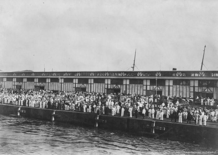Abfahrt in Tsingtau 1914