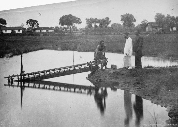 Bewässerung der chin. Reisfelder