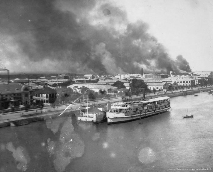 Brand in Hankow 1913 Okt aufgrund des Aufstandes