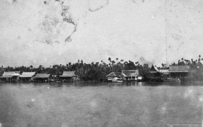 Landschaft am Ufer des Menamfluss Siam