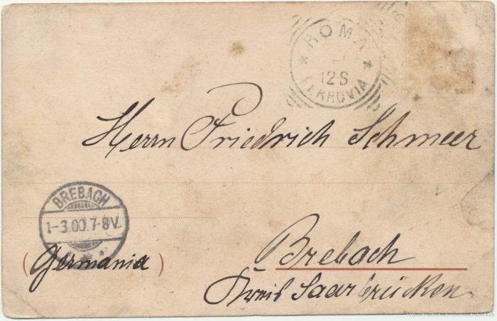 Postkarte von Warsitz an Friedrich