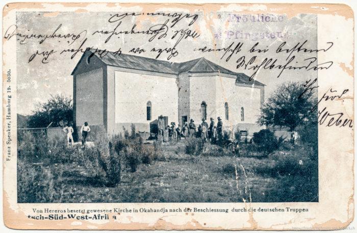 Deutsch-Süd-West-Afrika Von Hereros besetzt gewesene Kirche in Okahandja