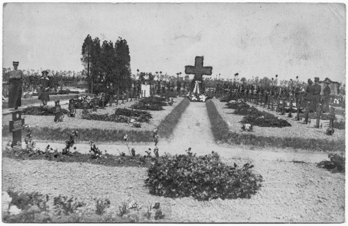 Einige Gräber der Gefallenen S.M.S. Derfflinger am Skagerak