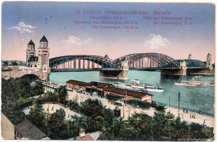 Köln: Hohenzollernbrücke Südseite
